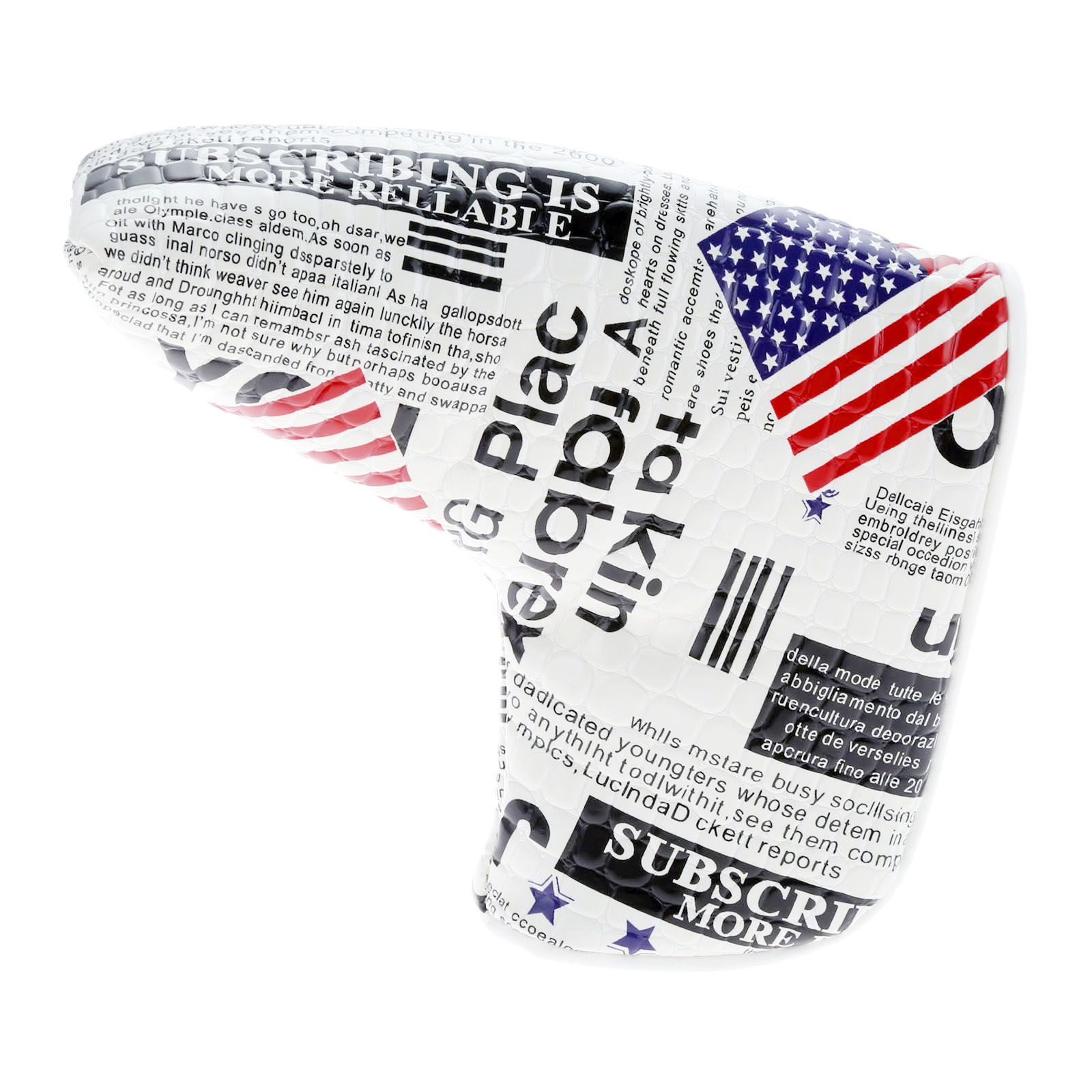 1Pc USA Flag Golf Blade Putter Head Cover PU Waterproof Headcover Protector Bag With Magnetic Closure Golf Club Head Accessories