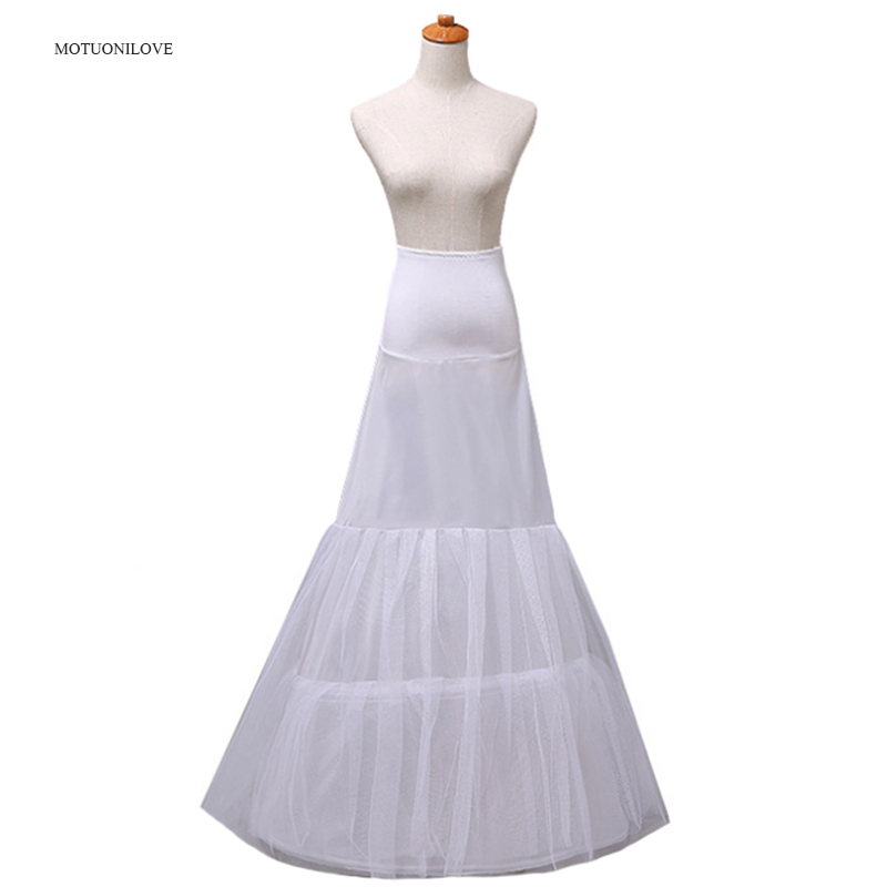 Cheap Vintage Wedding Bridal Petticoat Underskirt For Wedding Dress 2 Hoops Mariage Underwear Crinoline Slip Wedding Accessories