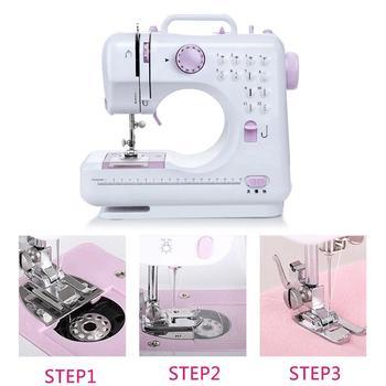 Mini Electric Sewing Machine Purple White Automatic Handheld Multifunctional Single Needle Sewing Machine Portable 7.2W Useful