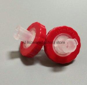 Image 1 - 100 шт 200 шт одноразовые 13/25 мм гидрофильные PTFE шприц микропористый фильтр, мембрана шприц миллипор фильтрации