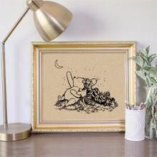Vintage Cartoon Poster Winnie De Pooh Canvas Schilderijen Op De Kwekerij Kinderkamer Decor Modulaire Foto Baby Verjaardagscadeau