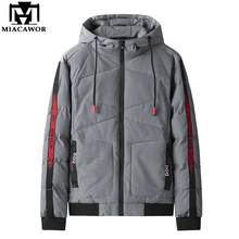 MIACAWOR New Autumn Winter Men's Jackets Korean Parka Men Hooded Windproof Coats Casual Outwear Men Clothing  J677