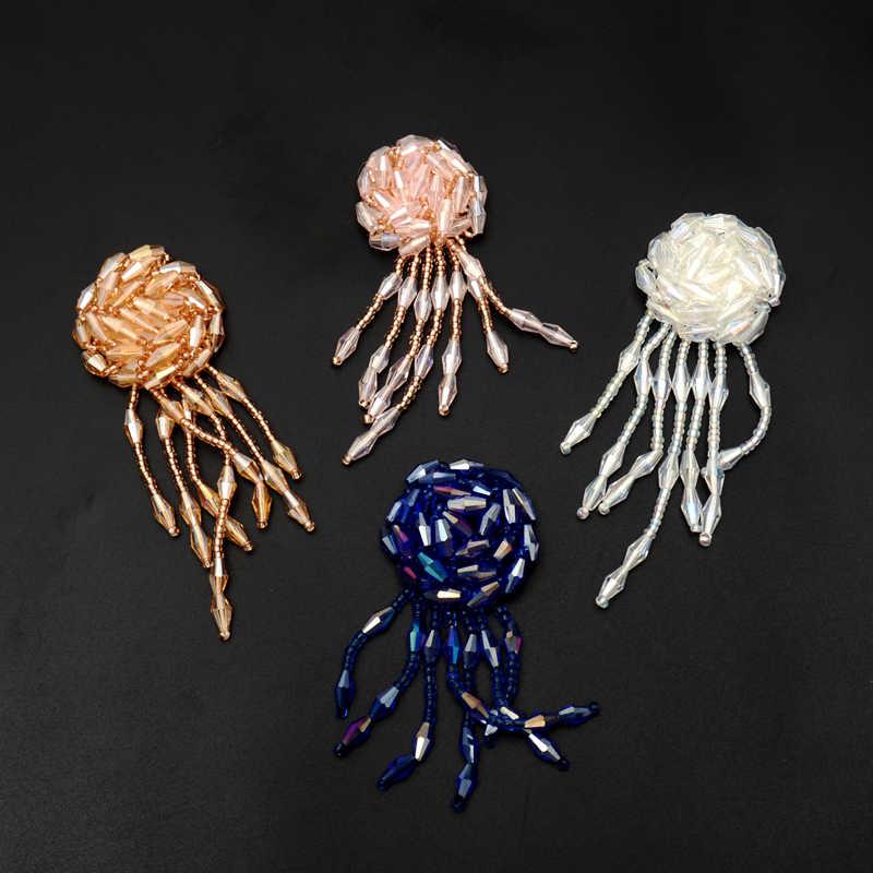 Tessel fiori sacchetto del pattino del sacchetto di tela di grandi dimensioni adesivi, in rilievo patch per i vestiti parches bordados para ropa parches termoadhesivos ropa