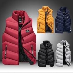 2020 New Casual Warm Thick Waterproof Jacket Parkas Coat Men Autumn Windproof Waistcoat Gilet Homme Vest Mens Winter Sleeveless