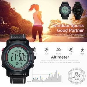 Image 1 - MG01 açık spor akıllı WatchWristwatches pusula altimetre barometre deri bant moda açık saatler saat Relogio
