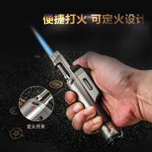 Powerful metal torch turbo lighter cigar cigarette lighters blue flame windproof gas lighter 1300 C accessories smoking