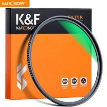 K & F Concept filtro UV, 58/77/82mm, Nano X MCUV, Ultra delgado, Filtro de vidrio, 18 capas, impermeable, MRC, protección multicapa