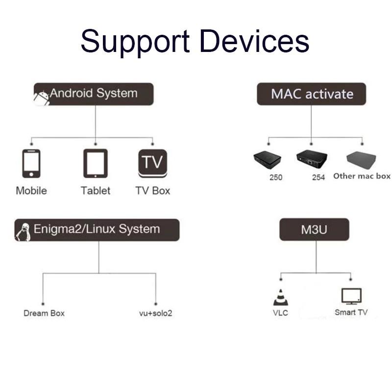 Global IPTV subscription 8000 + live adult IPTV Europe Dutch Germany Arabic TV box M3U Android Smart IPTV box supports 3 devices