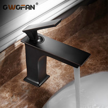 Bathroom Faucet Deck Mounted Basin Mixer Tap Brushed Sink Tap Vanity Hot Cold Water Faucet Black Painting Basin Mixer S79-349 цена и фото