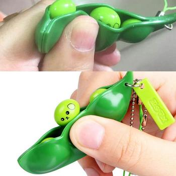 Anti Stress Squeeze Edamame Toys Peas Beans Decompression Squeeze Anti Stress Adult Fidget Stress Toy image