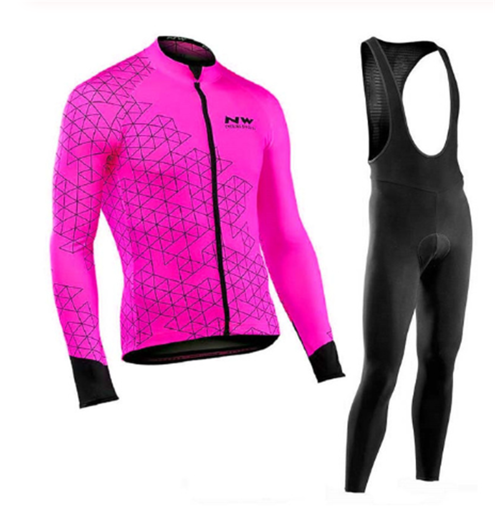 <font><b>NW</b></font> <font><b>2019</b></font> Breathable Cycling Clothes Set <font><b>Northwave</b></font> Long Sleeve Summer Jersey men suit outdoor sportful bike MTB clothing paded 7 image