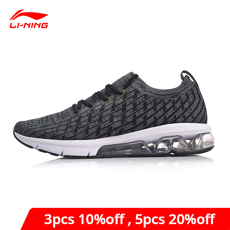 Li-Ning Men BUBBLE ARC Cushion Running Shoes Reflective Mono Yarn Breathable LiNing li ning Sport Shoes  Sneakers ARHN049 XYP753