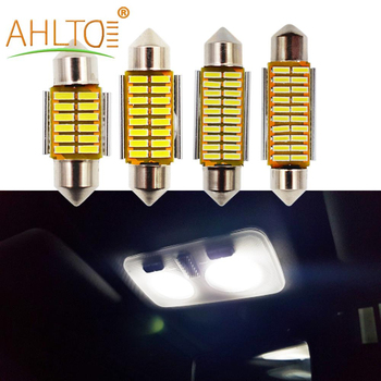 4014 SMD Car Leds 31mm 36mm 39mm 41mm C5W C10W White Car LED Dome Festoon Car Lights Canbus Free Bright Interior Doom Lamp Bulb image