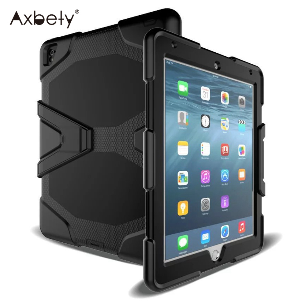 Axbety Heavy Duty Case For iPad Air 2 Case Full Protect Kickstand Hybrid Cover For iPad 6 Air 2 Shockproof Armor Tablet Cases image