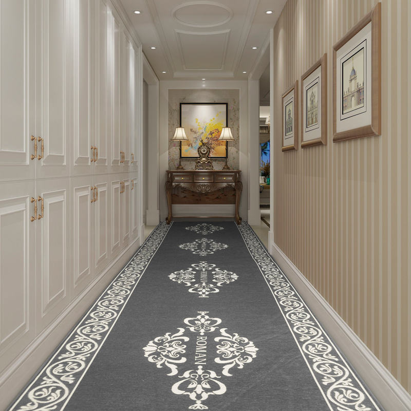 European Style Stair Carpet Long Hallway Carpets Hotel Corridor Aisle Runner Rugs Bedroom Living Room Rug Bedside Kitchen Mat