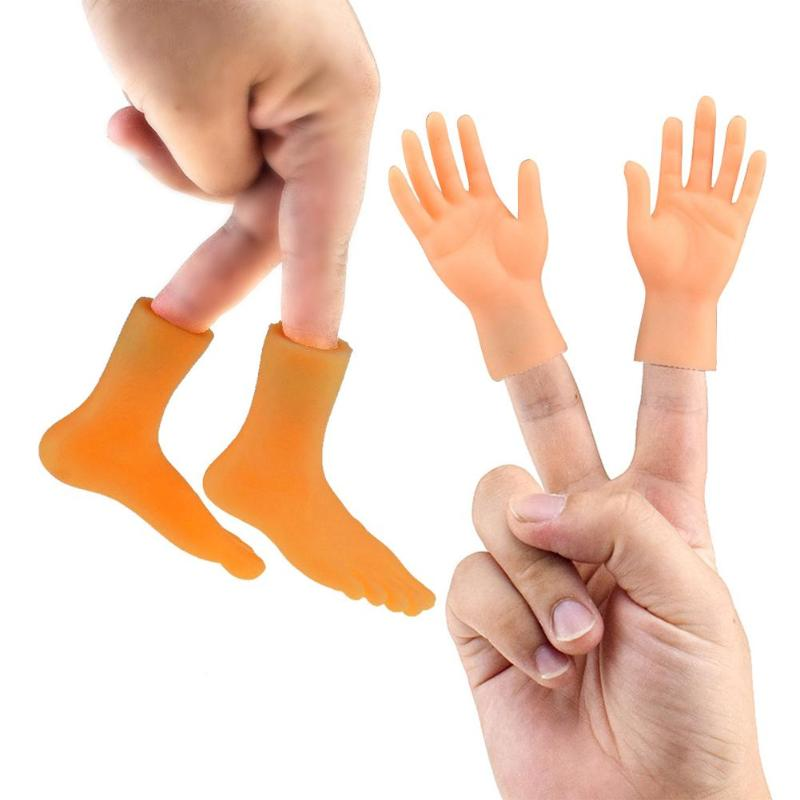 Finger Puppet Toy Creative PVC Left Right Hands Feet Model Child Baby Model Doll Mini Child Baby Doll  Baby Favor Toys