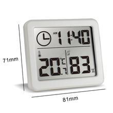 Электронный контроль температуры и влажности часы большой ЖК-экран 81x71x10 мм Многофункциональный термометр гигрометр автоматический
