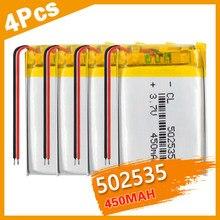 Сменная литий-ионная батарея 1/2/4P 502535 3,7 в 450 мАч, литий-полимерная аккумуляторная батарея для Bluetooth динамика