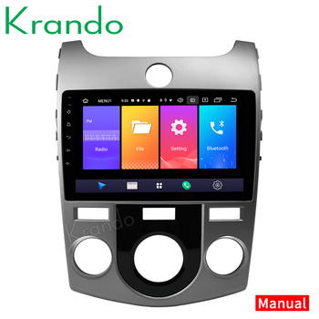 Krando Android 9.0 9 IPS Full touch car multimedia system for KIA CERATO /version/FORTE 2008- 2012 navigation GPS No 2din DVD image