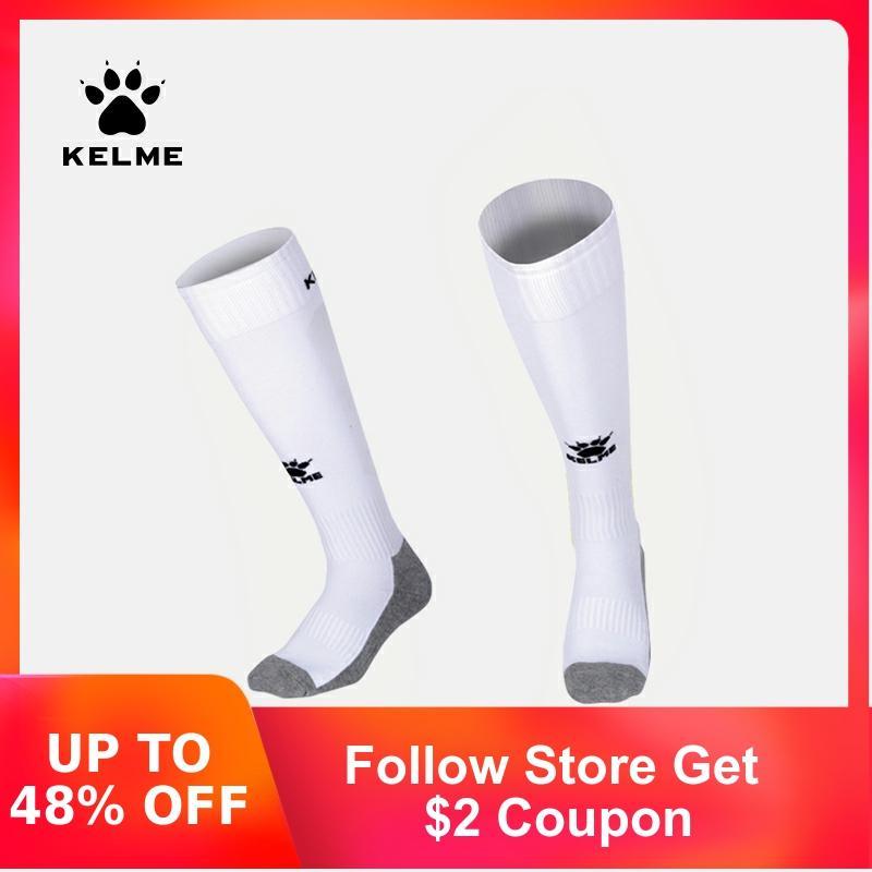 KELME Children Soccer Socks Football Training Competition Training Kids Over Knee High Breathable Sports Stockings K15Z931