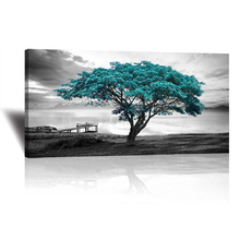 Large Blue Tree Black and White Home Decoration 5D Diy Diamond Painting Cross Stitch Kits Mosaic Embroidery Wall StickersZP-3438