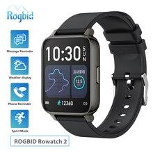 """Rogbid Rowatch 2 מלא מגע חכם שעונים גברים 1.69 """"Bluetooth 5.0 כושר גשש ספורט שעון Smartwatch נשים IOS אנדרואיד 2020"""