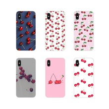 For Huawei G7 G8 P8 P9 P10 P20 P30 Lite Mini Pro P Smart Plus 2017 2018 2019 Cherry summer fruit Accessories Phone Shell Covers(China)