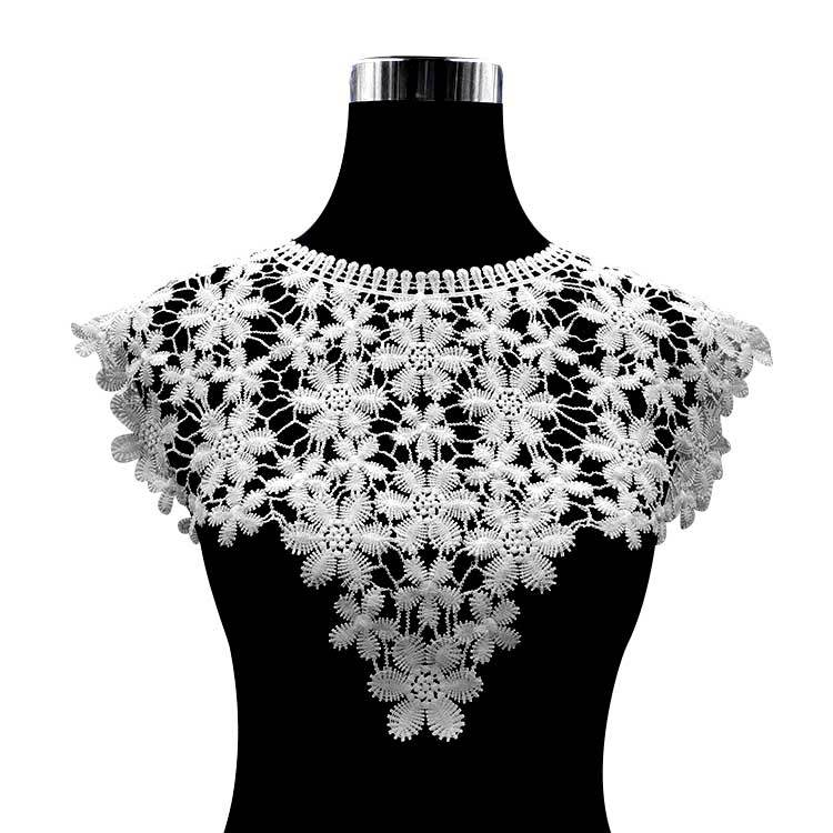 30 Style High Quality White Lace Fabic Embroidered Applique Neckline For Lace Fabric Sewing Supplies Scrapbooking 45*27cm