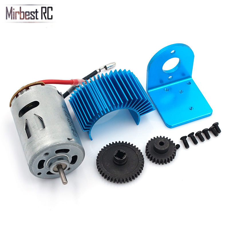 Motor Amount+540 Motor <font><b>Electric</b></font> Engine Metal Gear 27T Reduction gear 42T Rc <font><b>Car</b></font> Upgrade <font><b>Parts</b></font> 1/18 Wltoys A959 A969 A979 K929 image