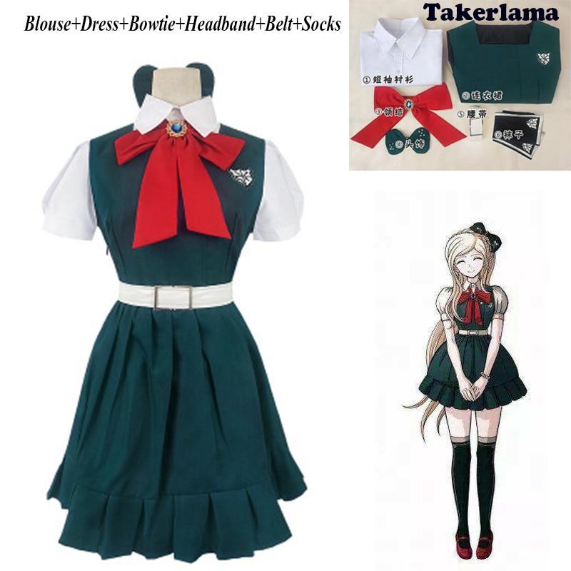 Anime Danganronpa 2: Sayonara Zetsubo Gakuen Sonia Nevermind Cosplay Halloween JK Uniform Woman Costume Dress Outfit Set