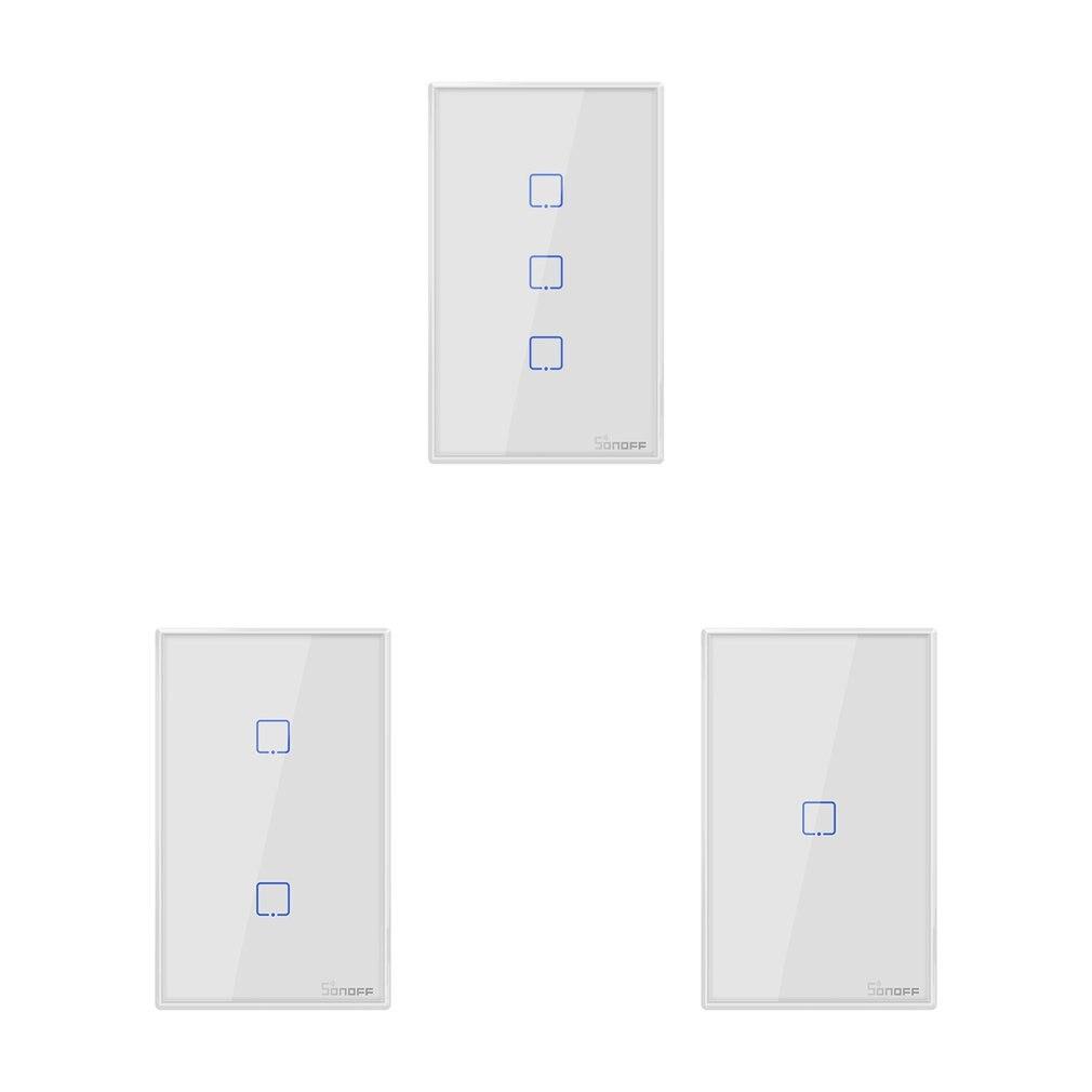 T2US TX Smart Wifi tactile interrupteur d'éclairage mural avec frontière maison intelligente 1/2/3 Gang 433 RF/voix/APP contrôle fonctionne avec Alexa