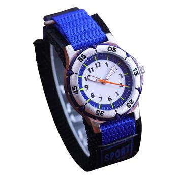 Zegarki dla dzieci zegarki dla dzieci chłopcy dziewczęta zegarki sportowe moda analogowe zegarki kwarcowe na płótnie zegarki montre enfant tanie i dobre opinie 3Bar QUARTZ STOP NONE CN (pochodzenie) Hardlex 16 5cm bez opakowania 39mm NYLON KB0448 ROUND 25mm 11mm