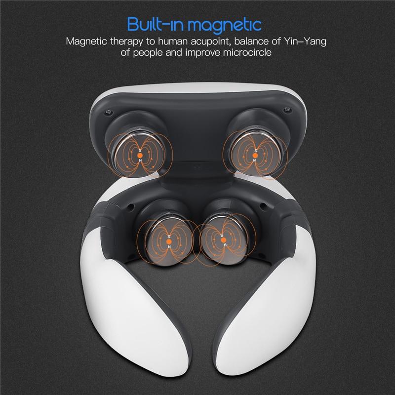 CkeyiN Elektrische Neck Massager Heizung Schmerzen Relief Werkzeug 3D Wireless Tiefem Tissue Körper Massage Gesundheit Pflege Entspannung Für Reise