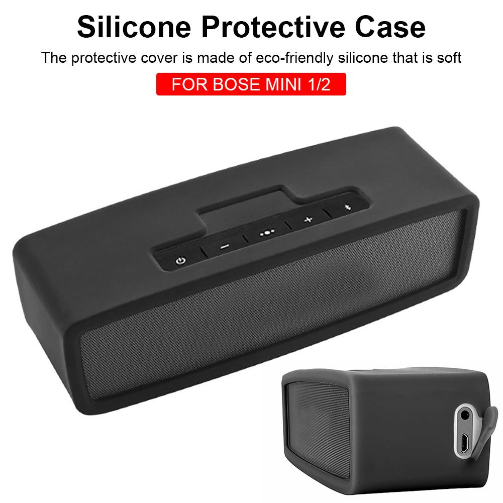 Bluetooth Speaker Case Protective Cover Portable Shockproof Anti-fall Silicone Case For Bose Mini 1/2 Bluetooth Audio Travel Box