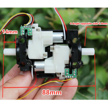 DC 3-6V 600RPM Electric Gear Motor Ball Bearing Encoder Speed Measurement DIY Smart Intelligent Trolley Toy Car Robot Chassis image