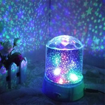 Projektor LED na noc Starry gwieździste niebo mistrz dzieci dzieci sen romantyczna lampa LED USB projektor bożonarodzeniowe prezenty dla dzieci tanie i dobre opinie oobest atmosferyczne CN (pochodzenie)