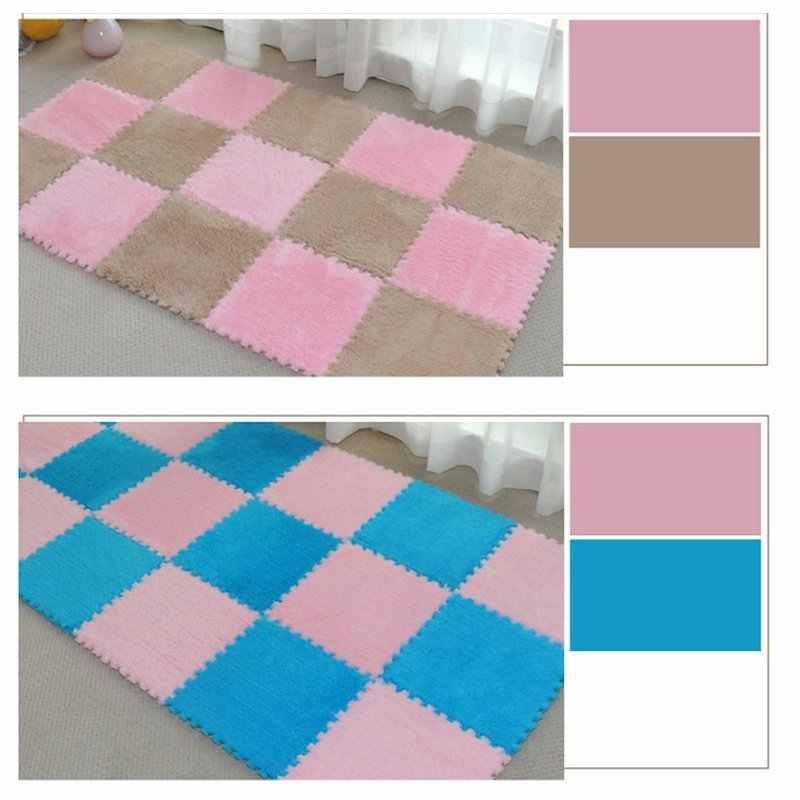 1 Pcs Hot Sale 30*30 Cm Karpet Ruang Tamu Kamar Tidur Anak-anak Anak-anak Lembut Karpet Sihir Patchwork Jigsaw Sambatan kepala Mendaki Bayi Mat