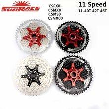 Sunrace csms8 csmx8 mx80 11 velocidade ampla relação bicicleta cassete bicicleta montanha bicicleta roda livre 11-42t 11-46t 11-50t 11-51t