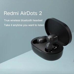 Image 2 - Xiaomi Redmi Airdots 2 TWS Bluetooth kablosuz kulaklık Stereo bas kulakiçi sesli kumanda BT 5.0 gürültü azaltma musluk AI kontrolü