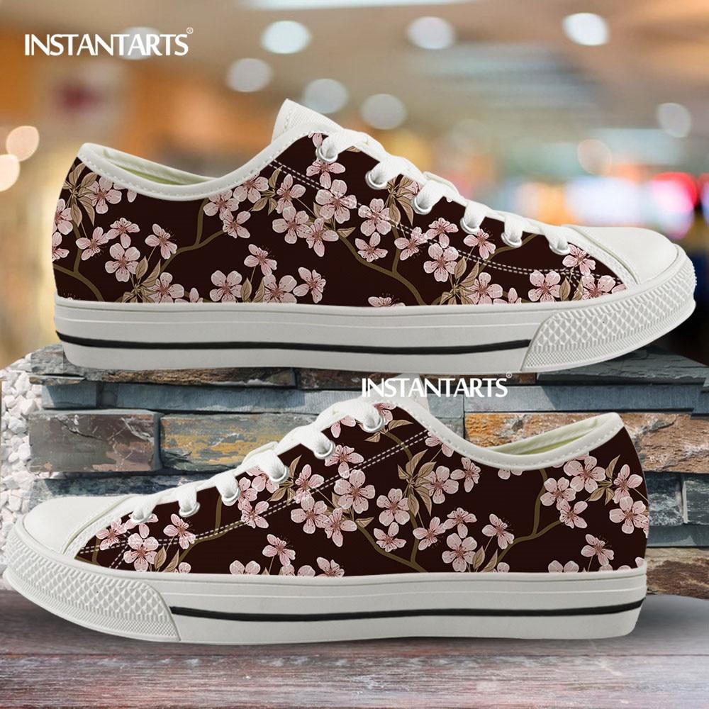 INSTANTARTS Rose Patterns Women's Shoes