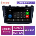 Seicane 9 inch 2GB RAM 32GB ROM 2din Android 10.0 Car Radio Bluetooth GPS Navigation Player for 2009 2010 2011 2012 MAZDA 3