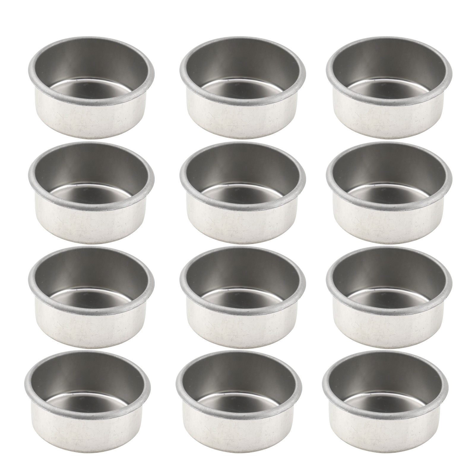 Useful 12 Metal Candle Holder Cups Tea Light Pans Prevent Wax Dripping Candles Containers Diy Candle Making Trays Candlestick Accessory Pleasant In After-Taste