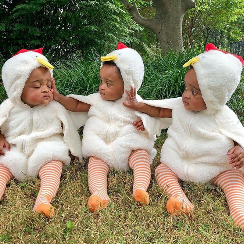 Halloween Toddler Baby Boy Girl Bodysuits Chick Chicken Dress Up Party Costume Cosplay