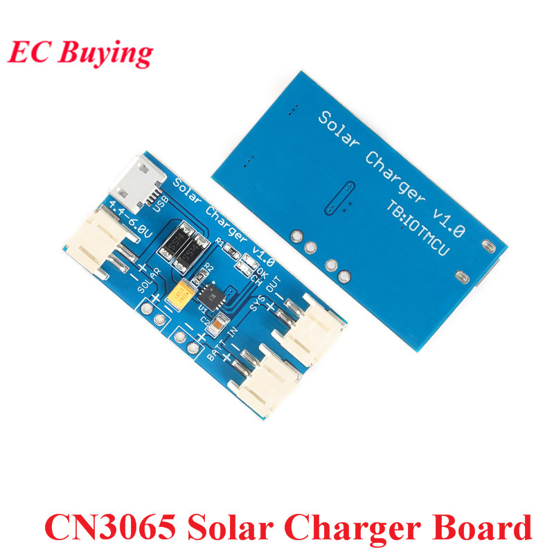 CN3065 Mini Solar Lipo Charger Board Module Li-ion Lithium Battery Charge Single-cell DIY TP5100 <font><b>500mA</b></font> 2A For Outdoor image