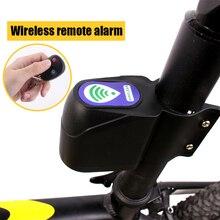 Anti-theft Bike Lock Alarm Cyclings Security Wireless Remote Control Vibration BB55