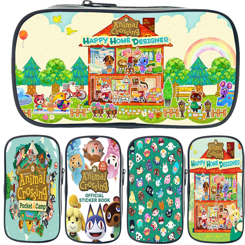 New Animal Crossing Colorful Large Capacity Pencil Cases Bags Creative Pen Box Pouch Case School Office Stationary Supplies