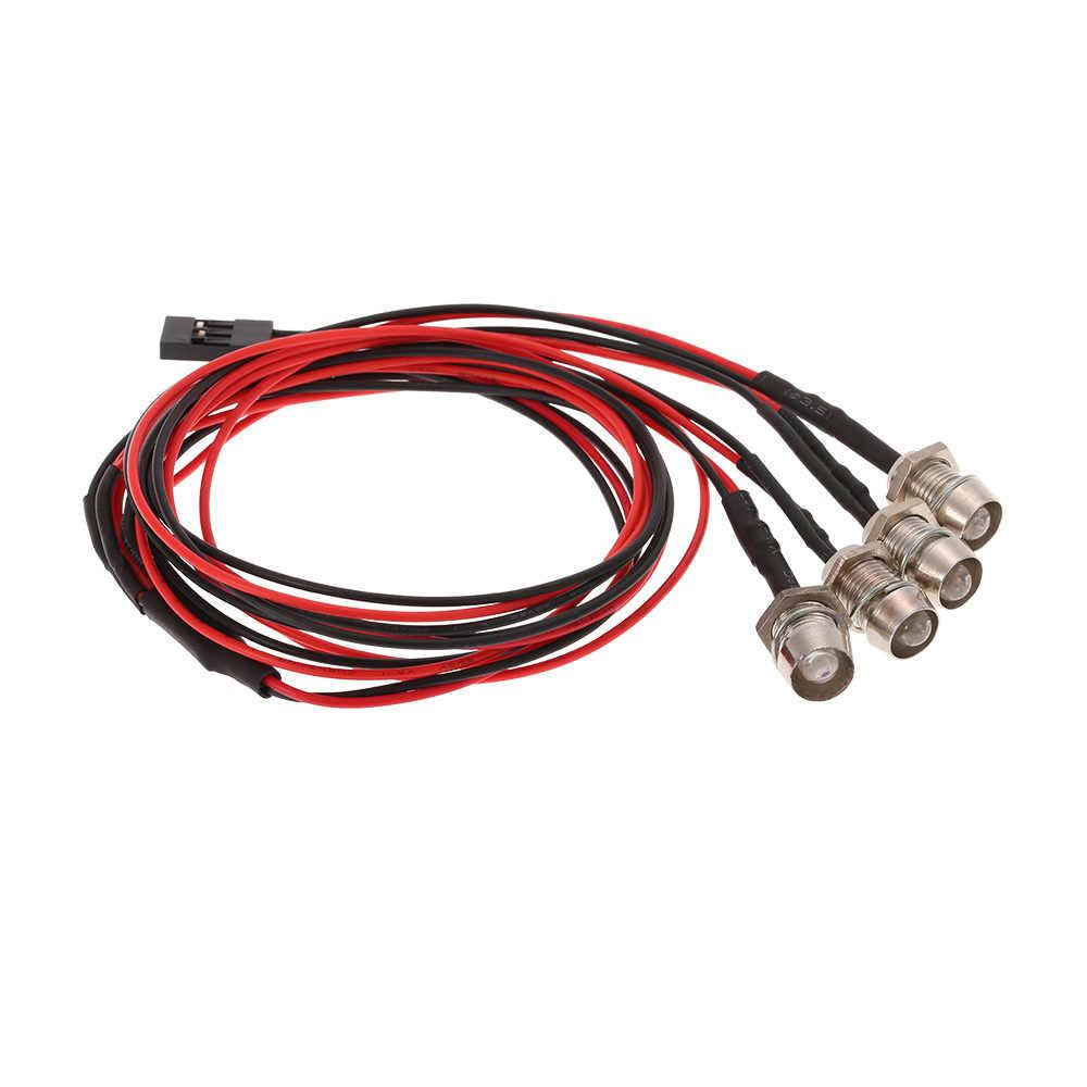 4 luces LED lámpara Kit para coche RC 1/10 1/8 Traxxas HSP Redcat RC4WD Tamiya Axial SCX10 D90 HPI RC modelo de camión para coche partes