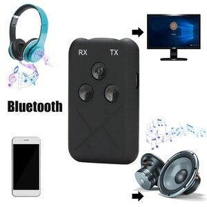 Image 2 - 2 in 1 ses kablosuz Bluetooth 4.2 verici alıcı 3.5mm Stereo ses adaptörü TV için araba hoparlörü müzik