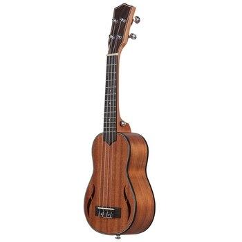 21 Inch Ukulele Walnut Wood Soprano Ukulele Acoustic Guitar Ukelele Mahogany Fingerboard Neck Hawaii 4 String Guitarra kmise classical mahogany 21 inch soprano ukulele neck koa wave shape head ukulele parts
