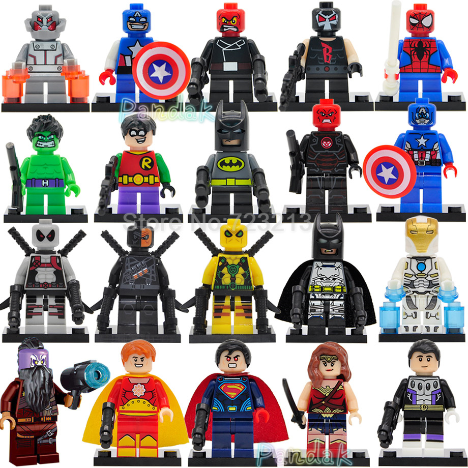 M Super Hero Deathstroke Figure X FORCE Deadpool Batman Hyperion Cosmic Boy Building Blocks Model Bricks Toys Legoing